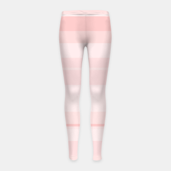 Thumbnail image of minimalistic horizontal stripes pattern gmpr Girl's leggings, Live Heroes