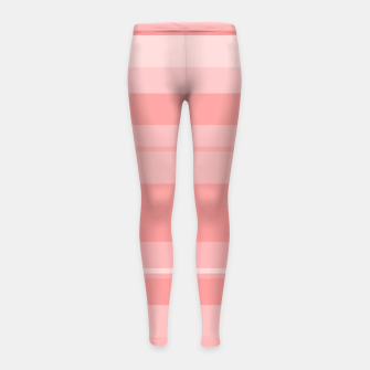 Thumbnail image of minimalistic horizontal stripes pattern gmpri Girl's leggings, Live Heroes