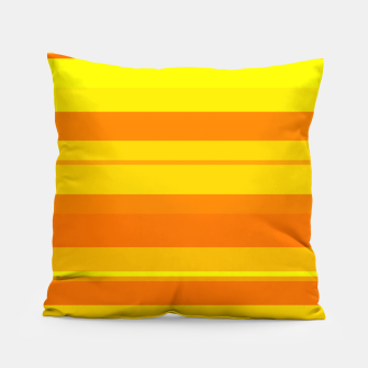 Miniatur minimalistic horizontal stripes pattern gmyo Pillow, Live Heroes