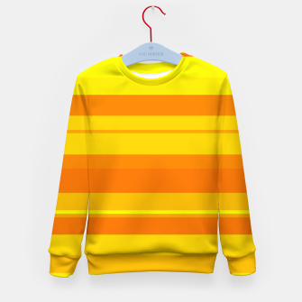 Miniatur minimalistic horizontal stripes pattern gmyo Kid's sweater, Live Heroes