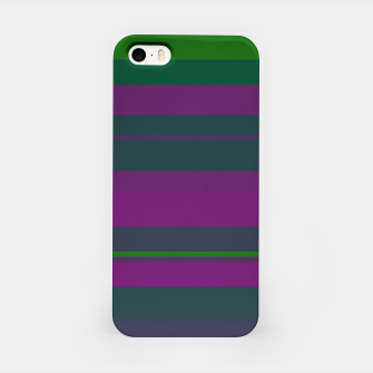 Miniatur minimalistic horizontal stripes pattern gmgoi iPhone Case, Live Heroes