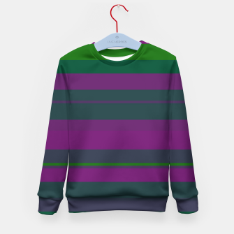 Miniatur minimalistic horizontal stripes pattern gmgoi Kid's sweater, Live Heroes