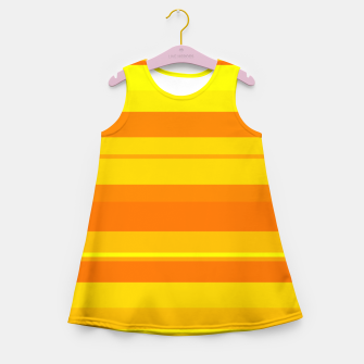 Miniatur minimalistic horizontal stripes pattern gmyo Girl's summer dress, Live Heroes