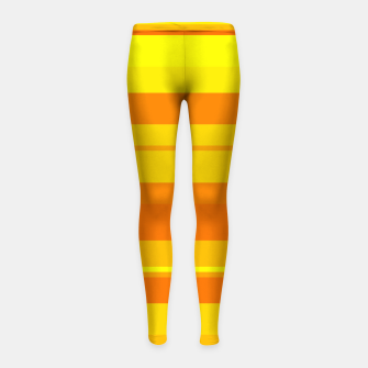 Thumbnail image of minimalistic horizontal stripes pattern gmyo Girl's leggings, Live Heroes