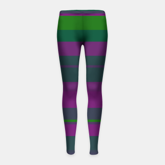 Thumbnail image of minimalistic horizontal stripes pattern gmgoi Girl's leggings, Live Heroes