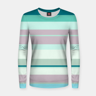 Miniatur minimalistic horizontal stripes pattern hb Women sweater, Live Heroes