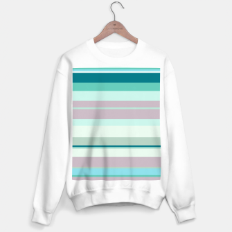 Miniatur minimalistic horizontal stripes pattern hb Sweater regular, Live Heroes