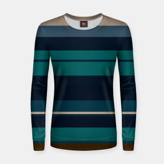minimalistic horizontal stripes pattern hbi Women sweater imagen en miniatura