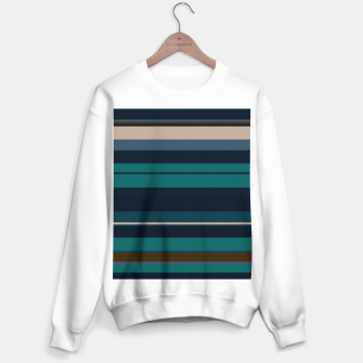 minimalistic horizontal stripes pattern hbi Sweater regular imagen en miniatura