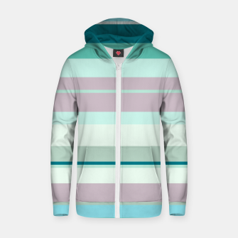 Thumbnail image of minimalistic horizontal stripes pattern hb Zip up hoodie, Live Heroes