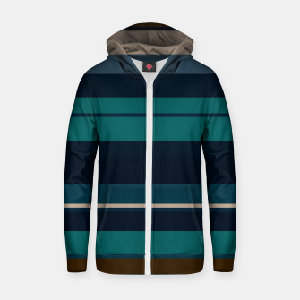 minimalistic horizontal stripes pattern hbi Zip up hoodie imagen en miniatura