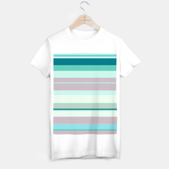 Miniatur minimalistic horizontal stripes pattern hb T-shirt regular, Live Heroes