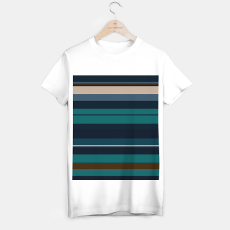 Miniatur minimalistic horizontal stripes pattern hbi T-shirt regular, Live Heroes