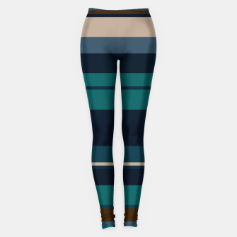 minimalistic horizontal stripes pattern hbi Leggings imagen en miniatura
