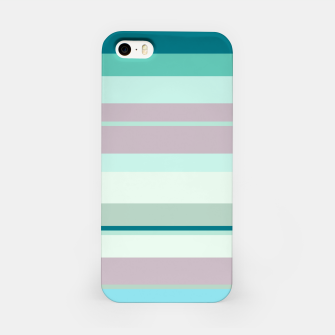 Miniatur minimalistic horizontal stripes pattern hb iPhone Case, Live Heroes