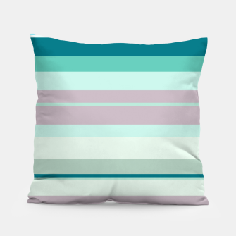 Miniatur minimalistic horizontal stripes pattern hb Pillow, Live Heroes