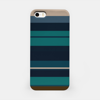 minimalistic horizontal stripes pattern hbi iPhone Case imagen en miniatura