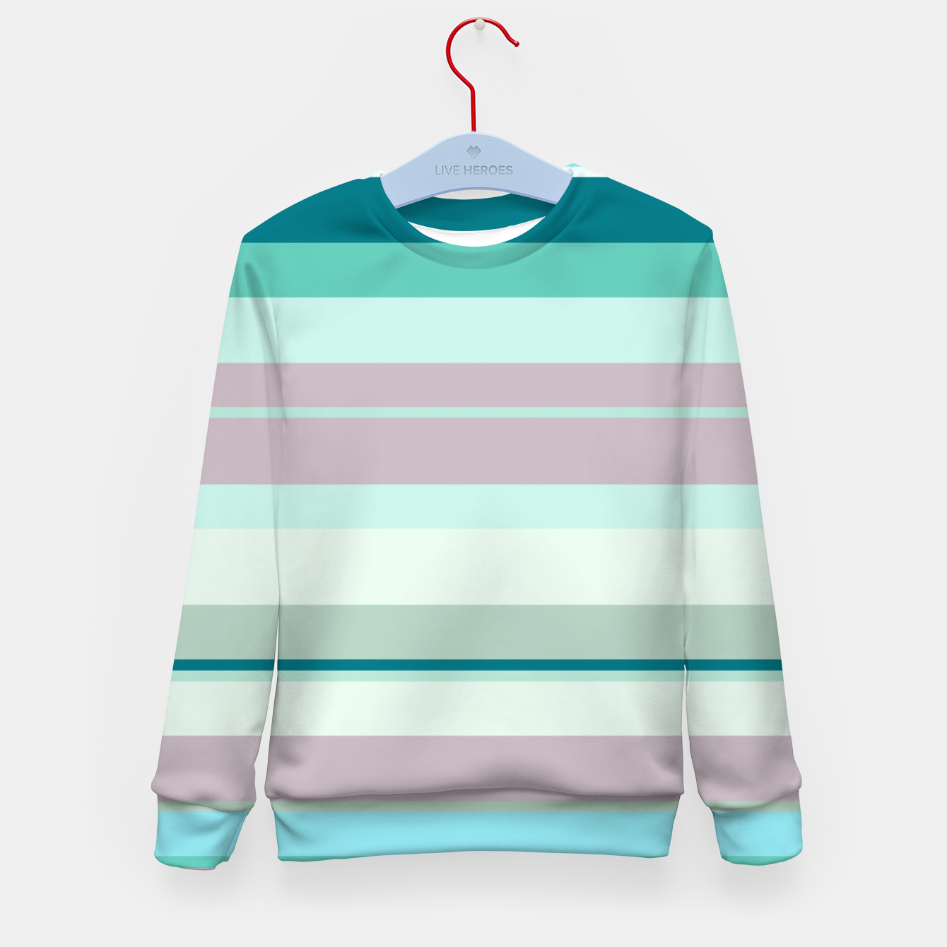 Imagen de minimalistic horizontal stripes pattern hb Kid's sweater - Live Heroes
