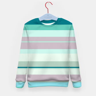 Miniatur minimalistic horizontal stripes pattern hb Kid's sweater, Live Heroes