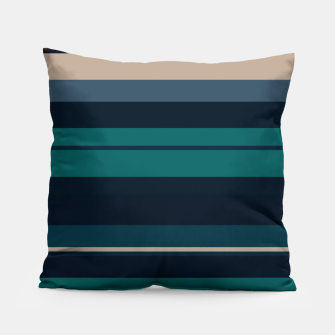 Miniatur minimalistic horizontal stripes pattern hbi Pillow, Live Heroes