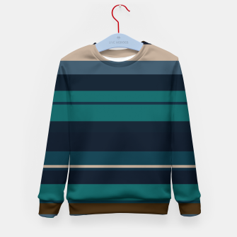 Miniatur minimalistic horizontal stripes pattern hbi Kid's sweater, Live Heroes