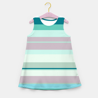 Miniatur minimalistic horizontal stripes pattern hb Girl's summer dress, Live Heroes