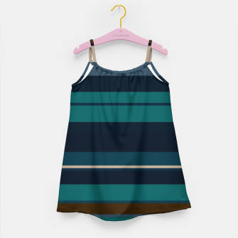minimalistic horizontal stripes pattern hbi Girl's dress imagen en miniatura