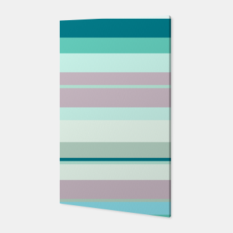 minimalistic horizontal stripes pattern hb Canvas imagen en miniatura
