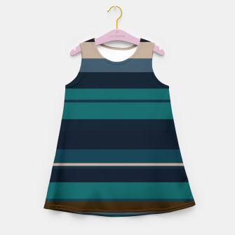 Miniatur minimalistic horizontal stripes pattern hbi Girl's summer dress, Live Heroes