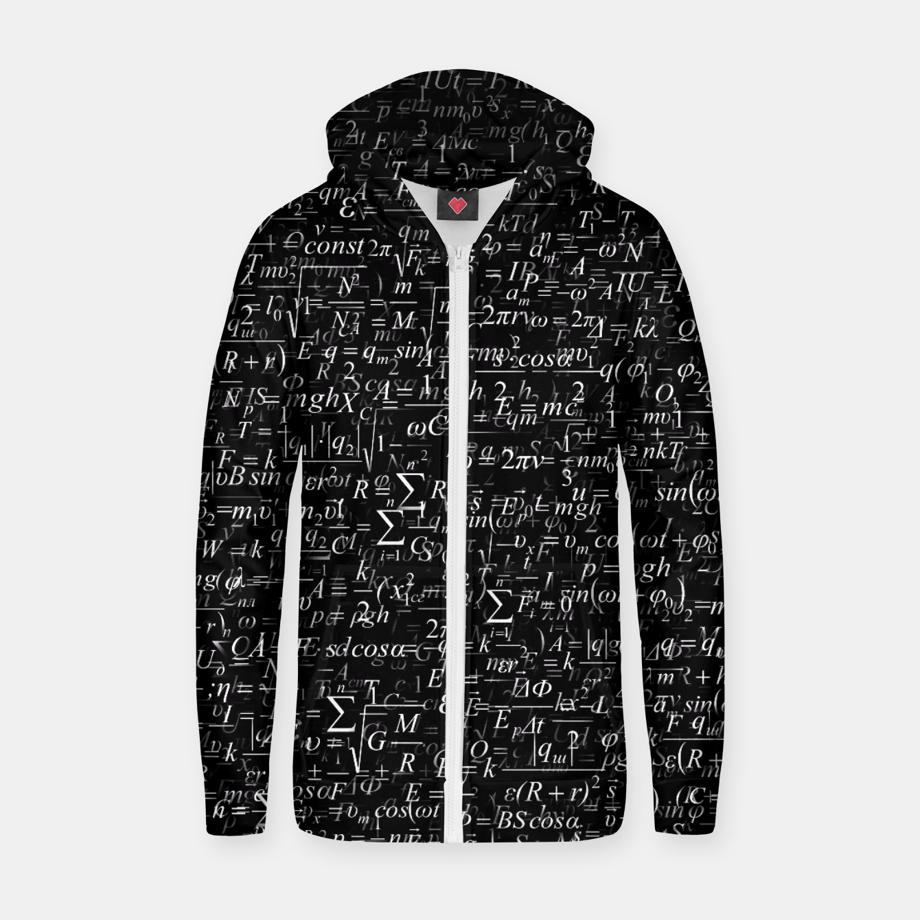 Image of Physics Formulas Zip up hoodie - Live Heroes