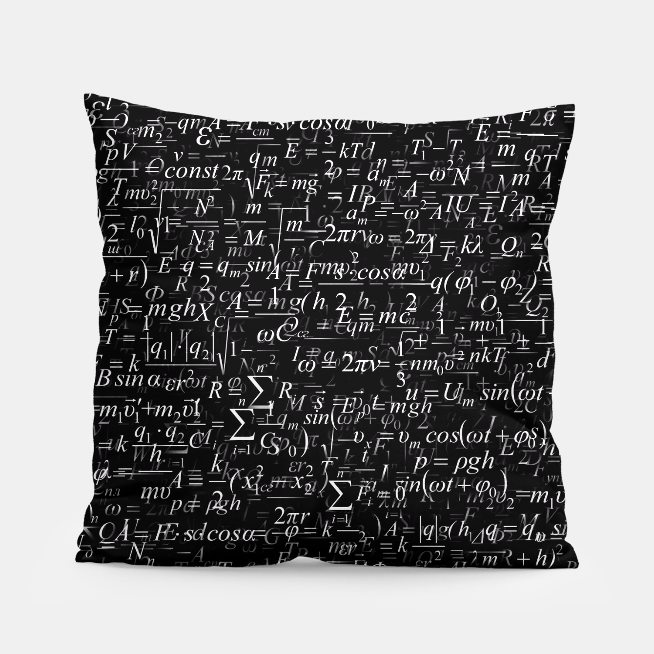 Image of Physics Formulas Pillow - Live Heroes