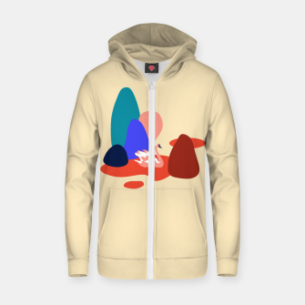 Thumbnail image of Swan in the lake Zip up hoodie, Live Heroes
