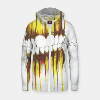 Thumbnail image of Teeth Zip up hoodie, Live Heroes