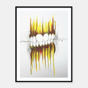 Thumbnail image of Teeth Framed poster, Live Heroes