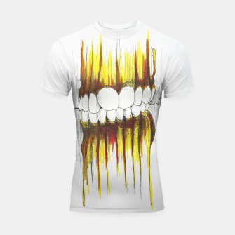Thumbnail image of Teeth Shortsleeve rashguard, Live Heroes