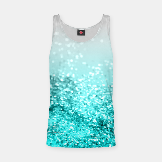 Thumbnail image of Silver Gray Aqua Teal Ocean Glitter #1 #shiny #decor #art  Muskelshirt , Live Heroes