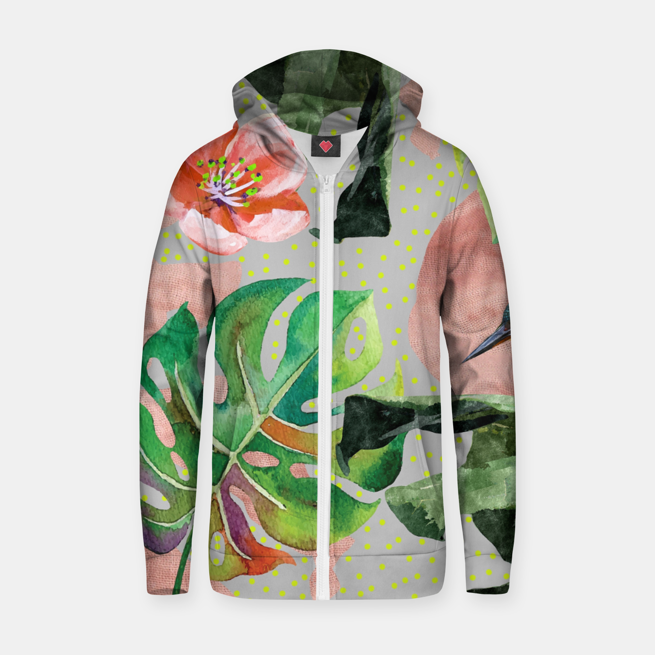 Image of Bird Sanctuary Zip up hoodie - Live Heroes