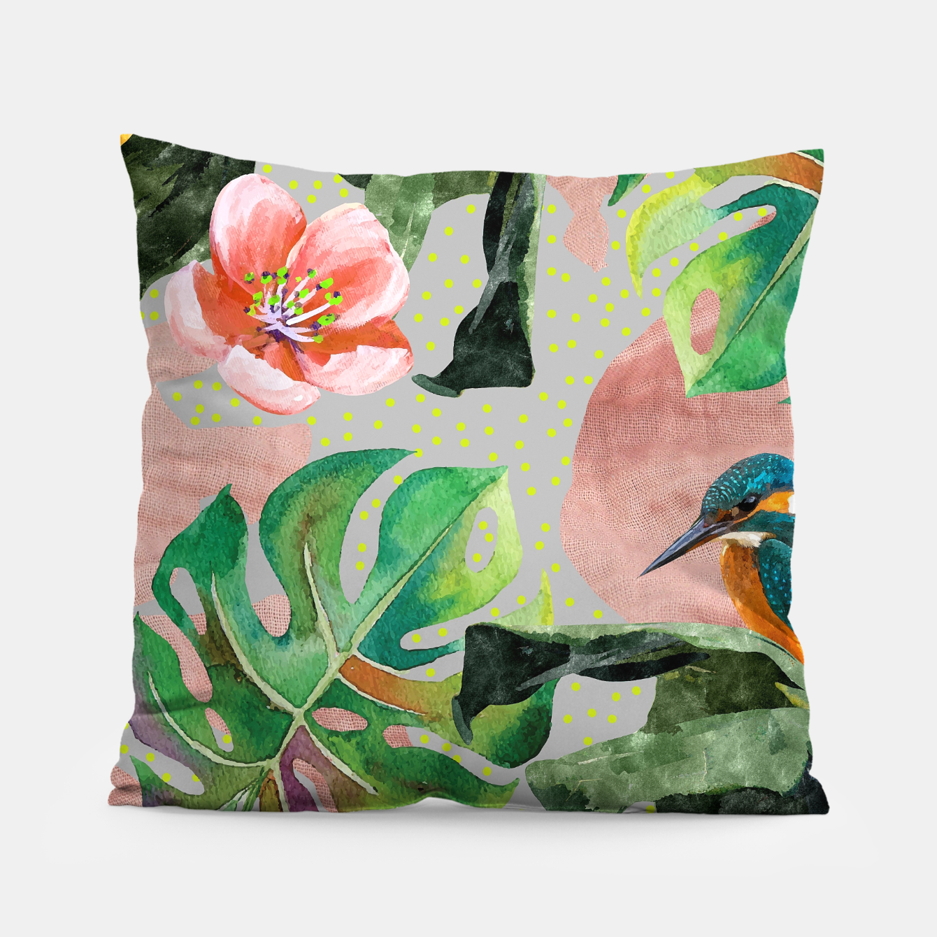 Image of Bird Sanctuary Pillow - Live Heroes