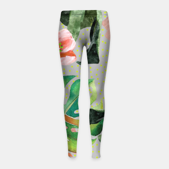 Thumbnail image of Bird Sanctuary Girl's leggings, Live Heroes