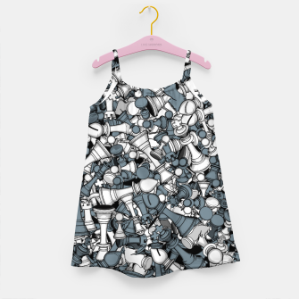 Miniatur Chess Master Girl's dress, Live Heroes
