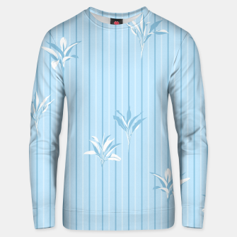 Blue and white Leaves & Lines Unisex sweater thumbnail image