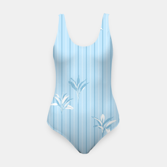 Blue and white Leaves & Lines Swimsuit thumbnail image
