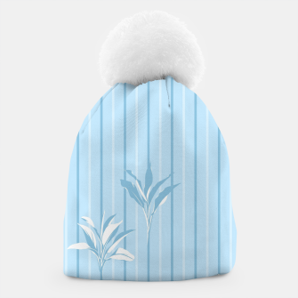 Blue and white Leaves & Lines Beanie thumbnail image