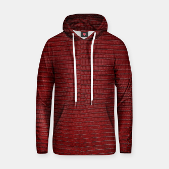 Thumbnail image of Red Lizard Leather Print Hoodie, Live Heroes