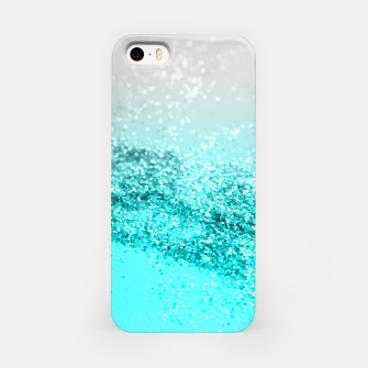 Thumbnail image of Silver Gray Aqua Teal Ocean Glitter #1 #shiny #decor #art  iPhone-Hülle, Live Heroes