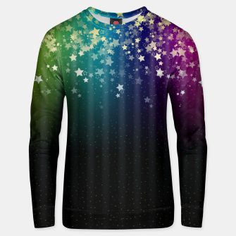 Miniatur Colorful Space Rainbow Stars Unisex sweater, Live Heroes