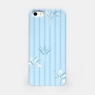 Blue and white Leaves & Lines iPhone Case thumbnail image