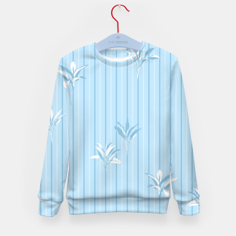 Blue and white Leaves & Lines Kid's sweater thumbnail image