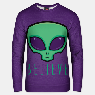 Miniatur Believe Alien Head Unisex sweater, Live Heroes