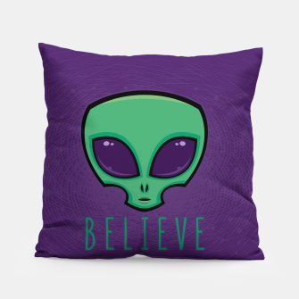 Miniatur Believe Alien Head Pillow, Live Heroes